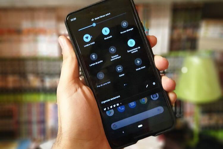 activation du mode sombre sur android