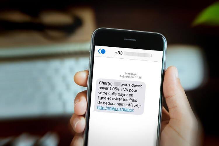 Smishing ou arnaque par SMS